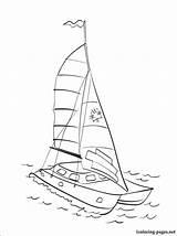 Catamaran Coloring Pages Transport Means Various Parents Fans Children Their sketch template