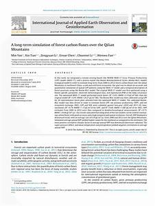 (PDF) A long-term simulation of forest carbon...