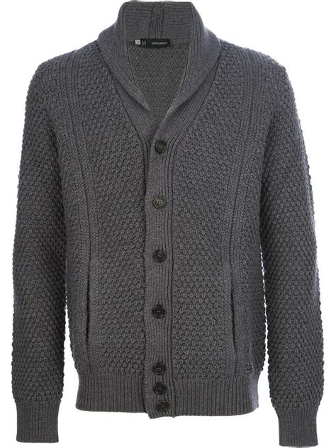 mens chunky knit sweater dsquared2 chunky knit shawl neck cardigan mens chunky