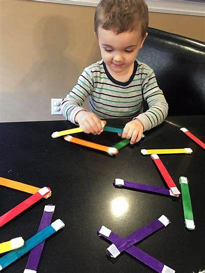 Popsicle Stick Activity Toddler Craft Simple Activities