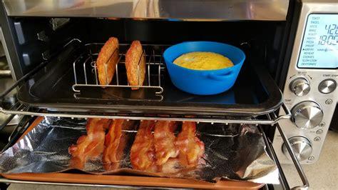 air fryer breville smart oven bacon egg cheese breakfast