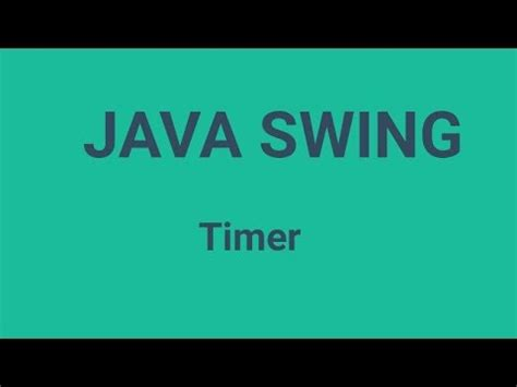 Javax Swing by Java Swing Timer Javax Swing Timer