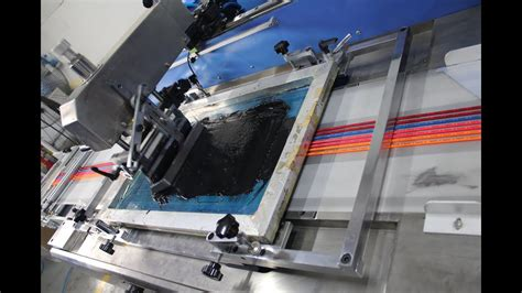 colors elastic rubber band automatic screen printing machine youtube