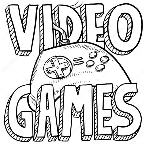 video games sketch stock vector  lhfgraphics