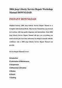 2004 Jeep Liberty Service Repair Workshop Manual Download