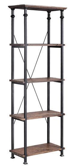 Stein World Bookcase by Stein World Bookcases Metal Bookcase W 4 Wood Shelves