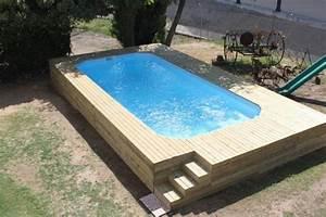 Piscine A Enterrer : piscine coque polyester hors sol semi et enterr e ~ Zukunftsfamilie.com Idées de Décoration