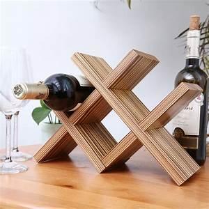 Creative, Nordic, Minimalist, Desktop, Wine, Rack, Wood, Ornaments, Small, Wine, Storage, Racks