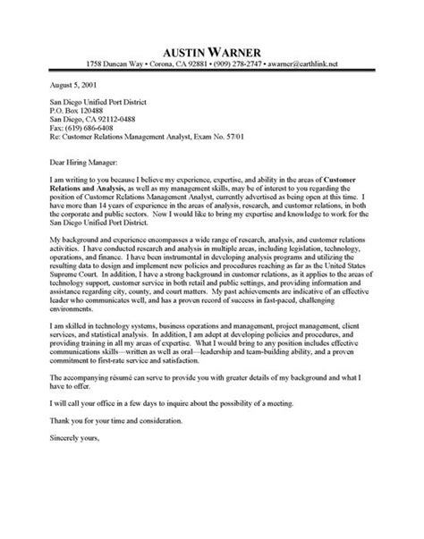 professional resume cover letter sample city manager