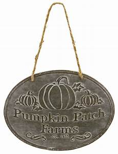 Fall, Pumpkin, Patch, Farms, Halloween, Sign, Embossed, Tin, Wall, Decor, 7, 75, Inches