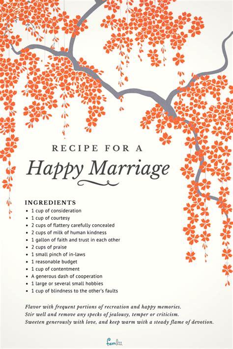 recipe   happy marriage famlii famlii