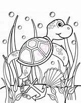 Coloring Sea Turtle Sheet Pages Seaweed Under Between Play Sheets Printable Turtles Coloringstar Seaweeds sketch template