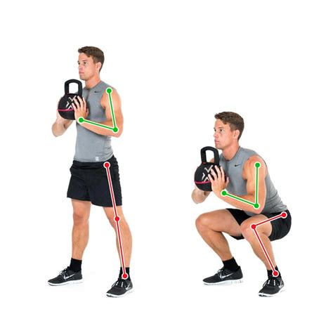 kettlebell squat squats legs exercise front kniebeuge mit