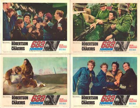 633 Squadron Original Us Lobby Card Set Of 8  Movie