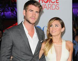 Beautiful Miley Cyrus and Liam Hemsworth on the red carpet ...
