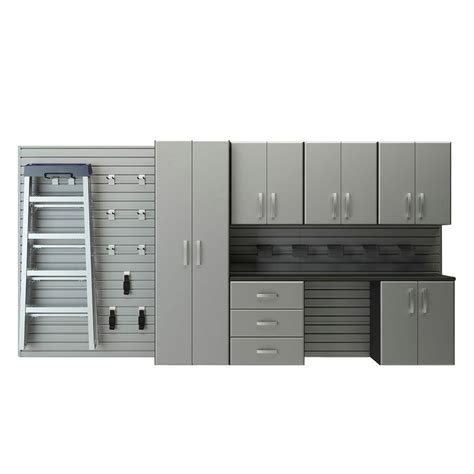 Garage Wall Systems by Flow Wall Deluxe Modular Wall Mounted Garage Cabinet