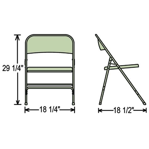 national seating 50 series standard steel folding