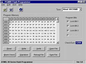 Atmel 89 Series Flash Microcontroller Programmer Ver 3 0