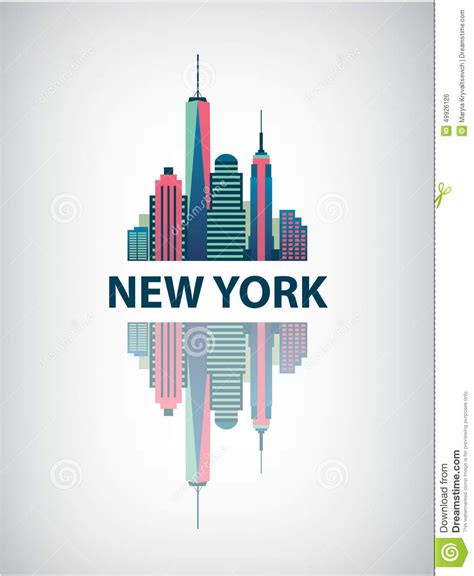 new york city architecture retro vector stock vector image 49926126