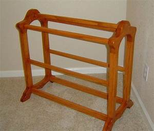 How To Build A Quilt Rack - WoodWorking Projects & Plans