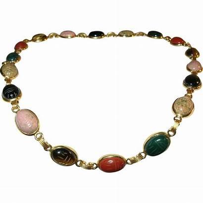 Scarab Necklace Gold Filled Rubylane