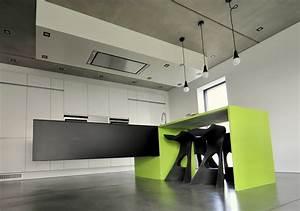 Suspension Ilot Cuisine : cuisine design avec ilot suspendu miwweltrend ~ Teatrodelosmanantiales.com Idées de Décoration
