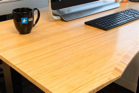 jarvis standing desk bamboo jarvis standing desk review digital trends