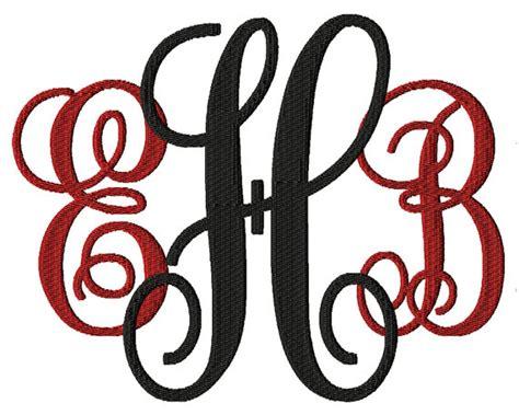 fill stitch monogram font embroidery font machine embroidery