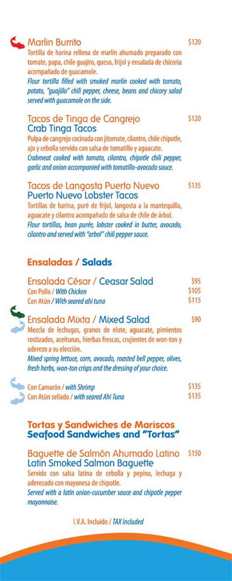 blue fish restaurant riviera maya