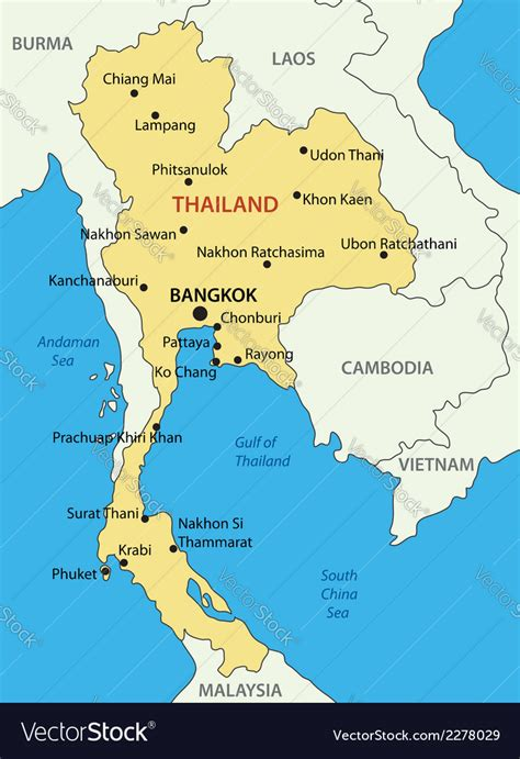 kingdom  thailand map royalty  vector image