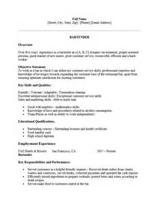 best resume format for bartenders free professional bartender resume template sle ms word