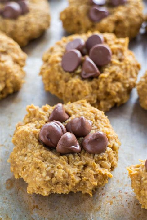 Not just oatmeal cookies, she also makes double and even triple batches of chocolate chip cookies, snickerdoodles, and sugar cookies (which is more than enough and we're usually snacking on leftover cookies well into the new year). 5 Ingredient Sugar Free Pumpkin Cookies - Brooklyn Farm Girl