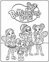 Cafe Coloring Pages Butterbeans Butterbean Printable Cricket Jasper Poppy Dazzle Getcoloringpages sketch template