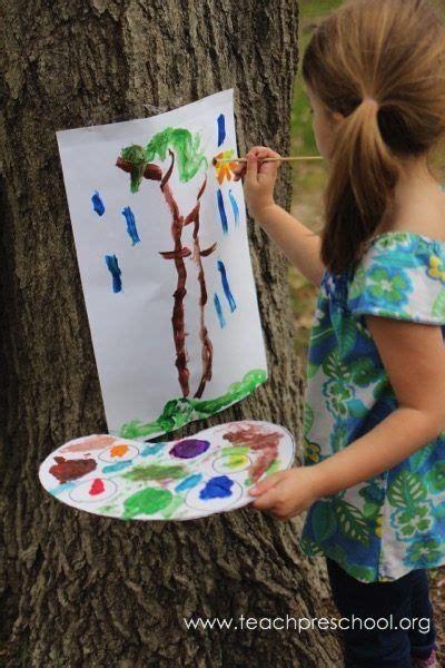 you used a tree as an easel easel ideas for 876 | fe2debf68a582aa3131f5880ac87b8e4