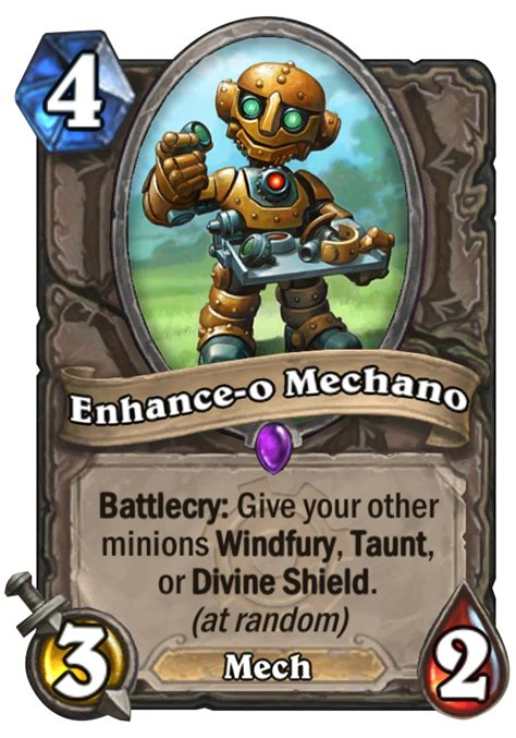 Top Tier Decks Hearthstone by Enhance O Mechano Hearthstone Card