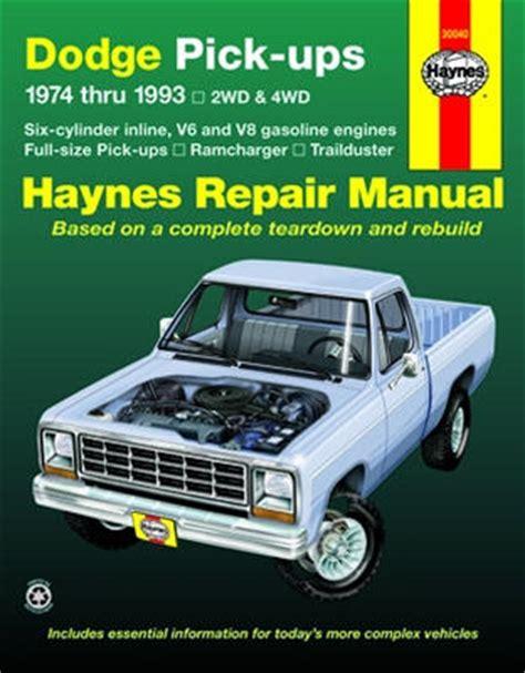 how to download repair manuals 1993 dodge ram wagon b350 transmission control repair manual book dodge pickup truck d150 74 93 ram joetlc