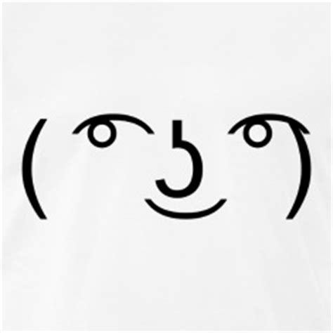 Lenny Face Meme - lol meme face t shirts spreadshirt