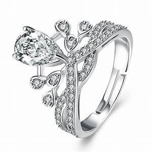 Adjustable Diamond Rings Wedding Promise Diamond