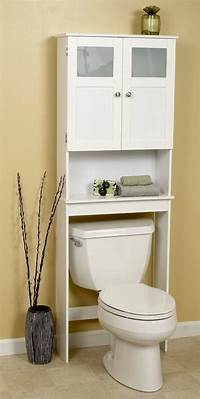 bathroom cabinet storage Bathroom Over Toilet Cabinet Space Saver Storage Unit ...