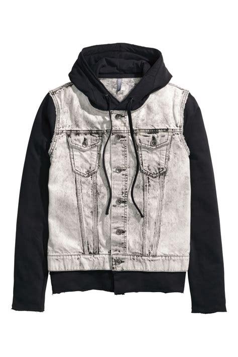 jacket black denim jacket with black sale h m us