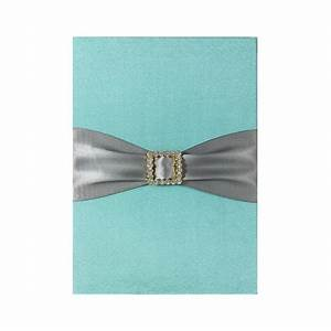 aqua blue luxury wedding invitation pad with pocket card With wedding invitation insert holders