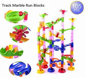 105pcs Toys Kid Deluxe Marble Race Game Marble Run Play