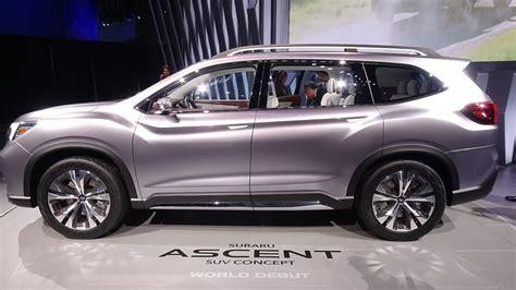 subaru ascent suv concept world debut ny auto show
