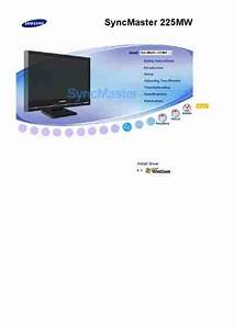 Samsung Syncmaster 225mw Monitor Download Manual For Free