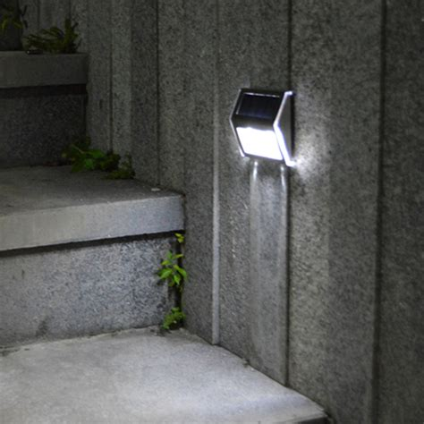 solar power led wall light l rechargeable waterproof