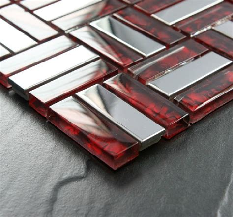 brick stainless steel mosaic tile glass mosaic kitchen