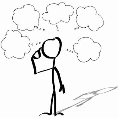 Thought Person Cartoon Stick Figure Drawing Clipart
