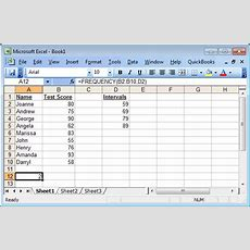 Ms Excel How To Use The Frequency Function (ws