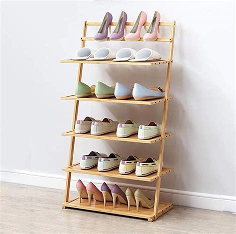 lcrakon narrow shoe rack bamboo shoe racks storage 5