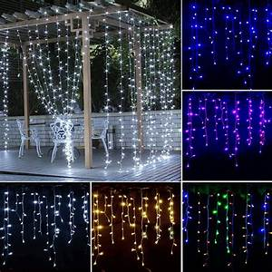Icicle, Hanging, Curtain, Fairy, Wall, String, Lights, Christmas, Wedding, Party, Led, Dec